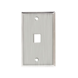 Stainless Steel Faceplate - 1 Port