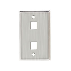 Stainless Steel Faceplate - 2 Port