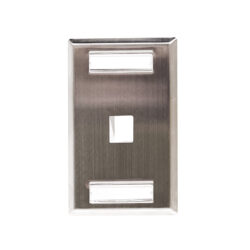 Stainless Steel ID Label Faceplate - 1 Port