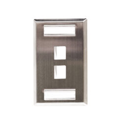 Stainless Steel ID Label Faceplate - 2 Port