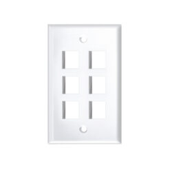 High-Impact Faceplate - 6 Port White