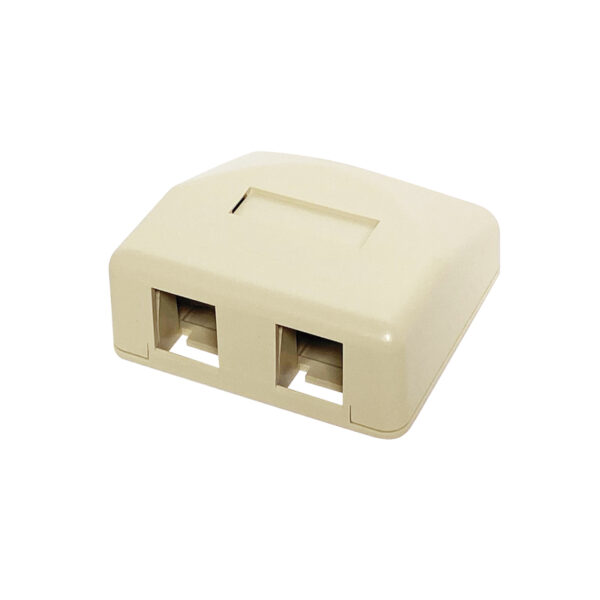Surface Mount Boxes - 2 Port Ivory
