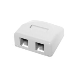 Surface Mount Boxes - 2 Port White
